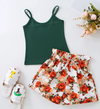 Gia's Cami Top & Floral Print Bow Shorts
