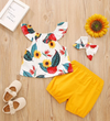 Fin's Floral Tank Top & Shorts With Headband
