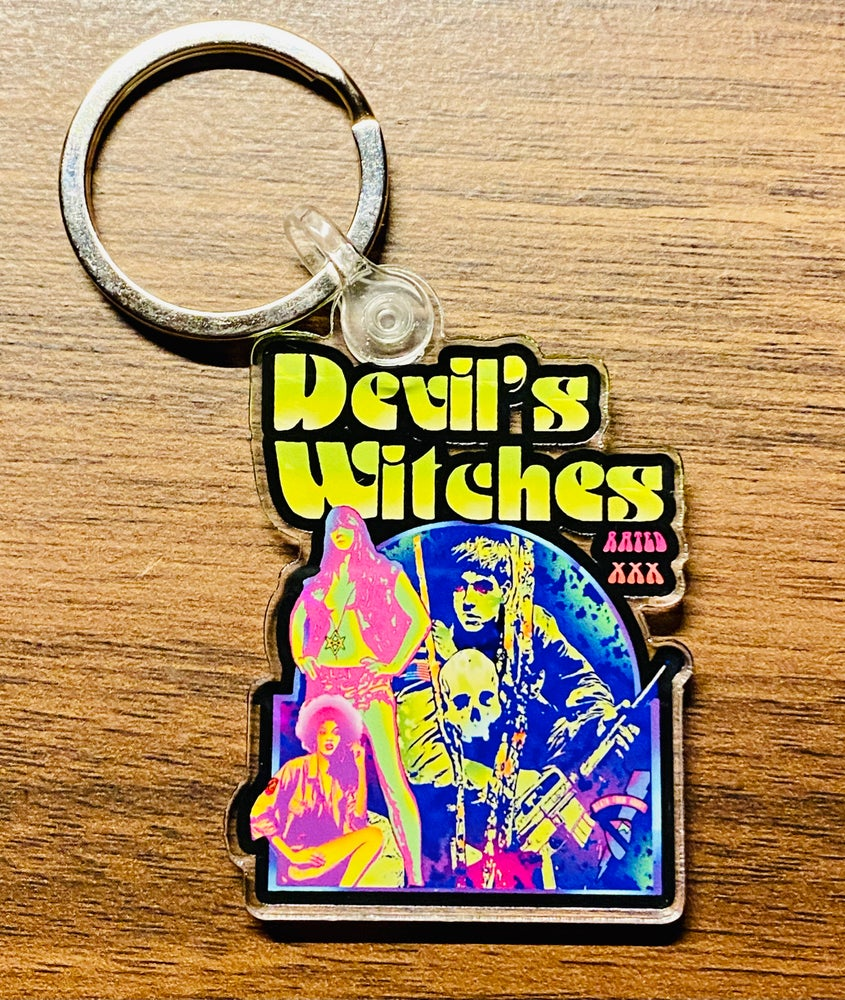 Image of DEVILS WITCHES ROLLING THUNDER KEYCHAIN