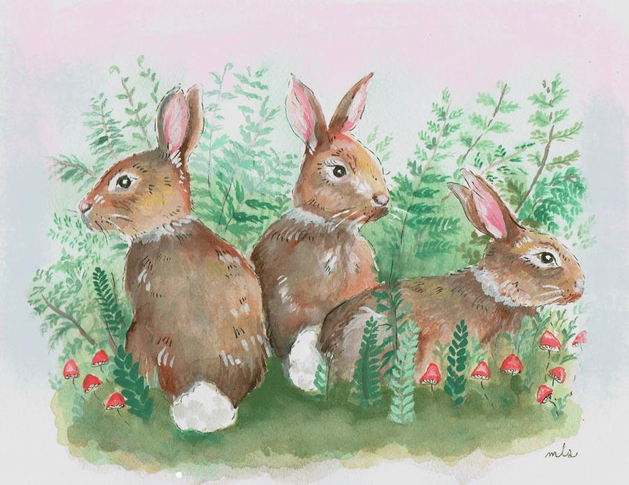 "Image of PRE ORDER 8x10"" Baby Bunnies"