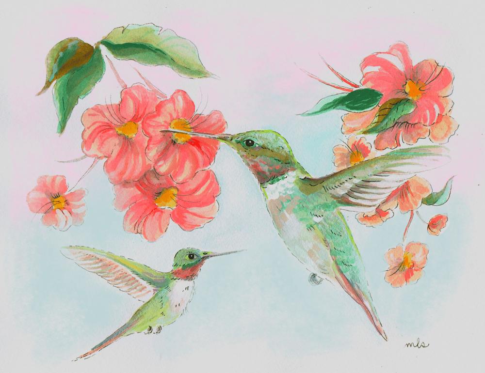 "Image of PRE ORDER 8x10"" Hummingbirds"