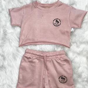 Image of Cotton Fleece Two Piece Set