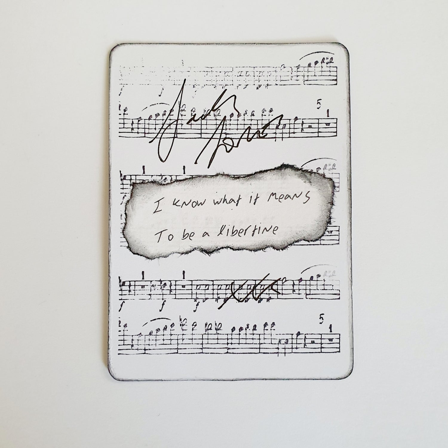 Image of Signed To Be A Libertine mini art card