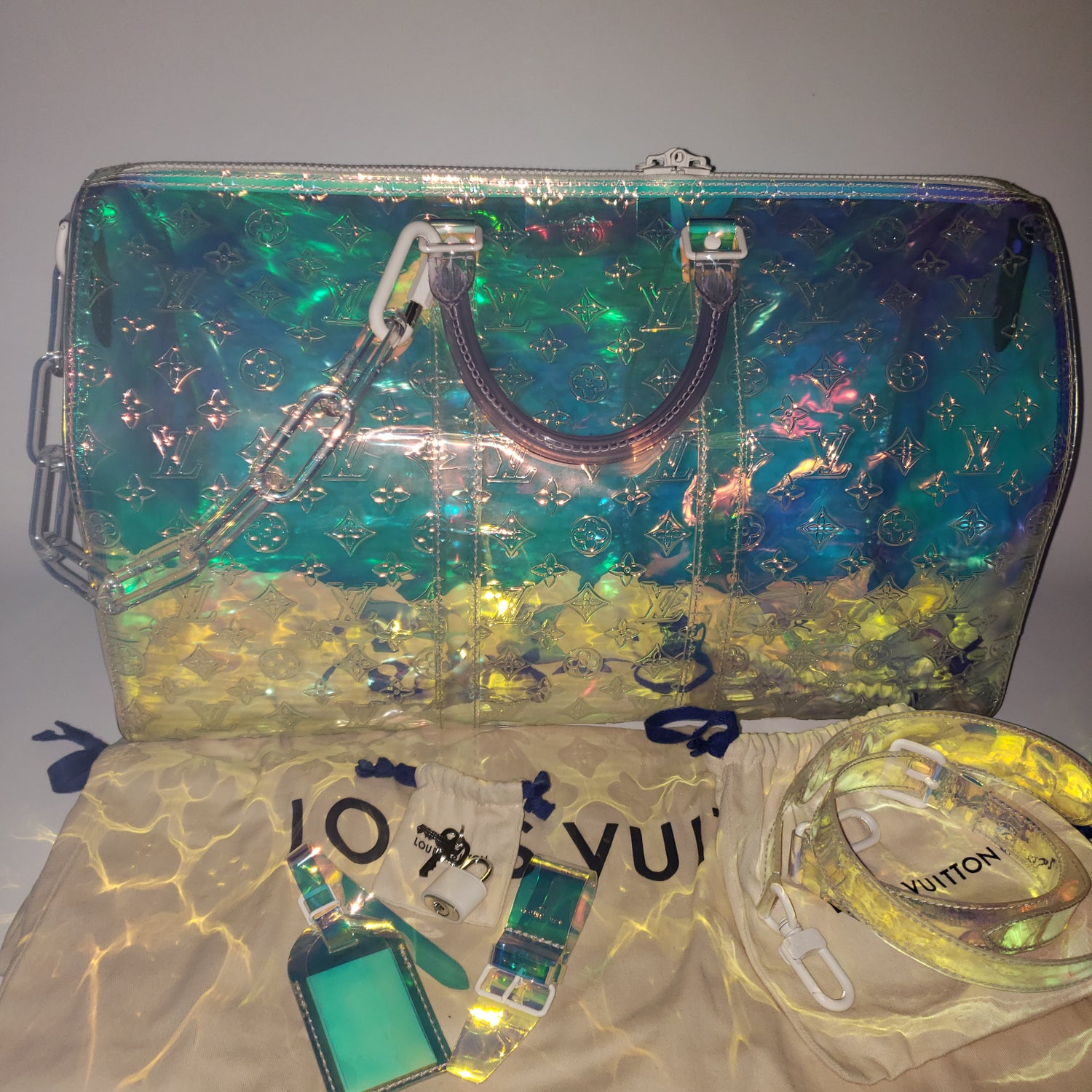 Image of Louis Vuitton Keepall Bandoulliere 50 prism
