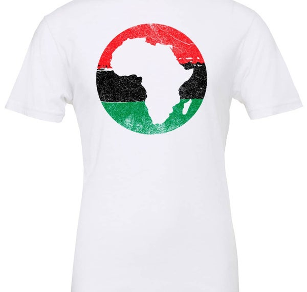 Image of Juneteenth african map white