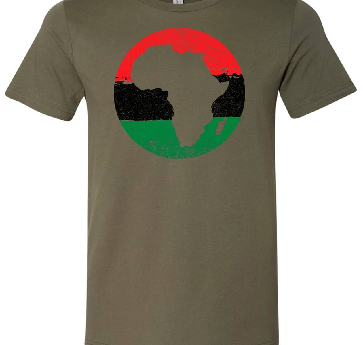 Image of Juneteenth african map army green