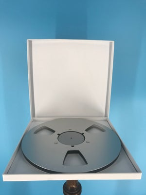 """Image of 1/4"""" x 10.5"""" *Scratched SILVER NAB Metal Reel with White Hinged Set up Box NEW"""