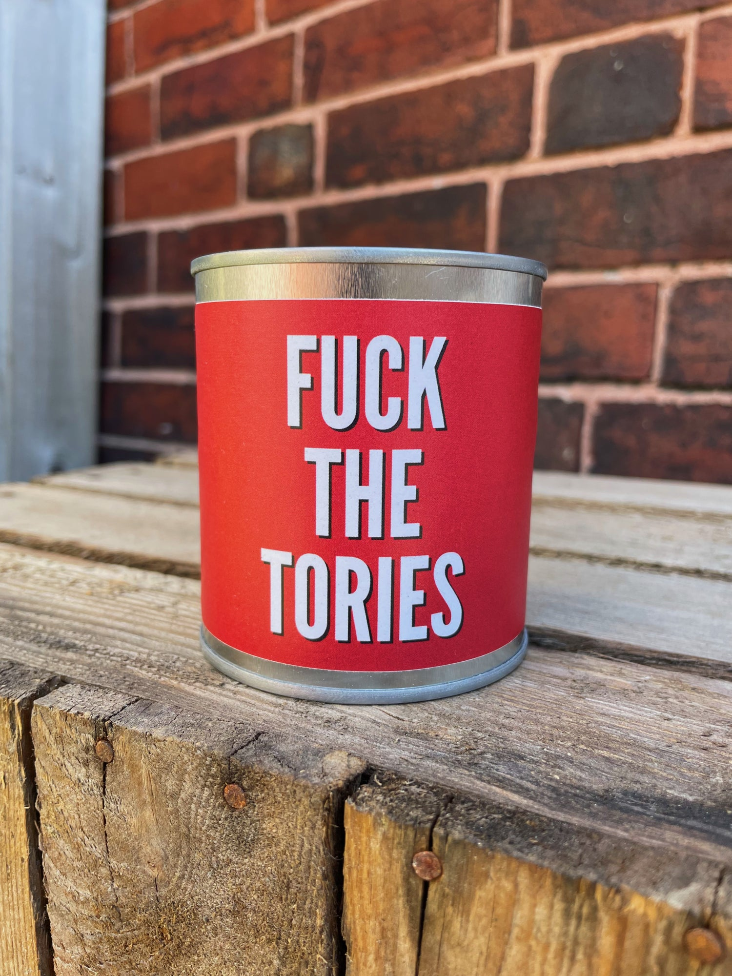 'Fuck The Tories' Candle