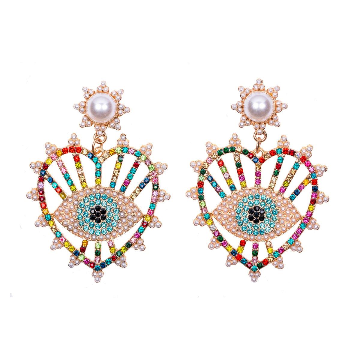 Rainbow Eye Earrings