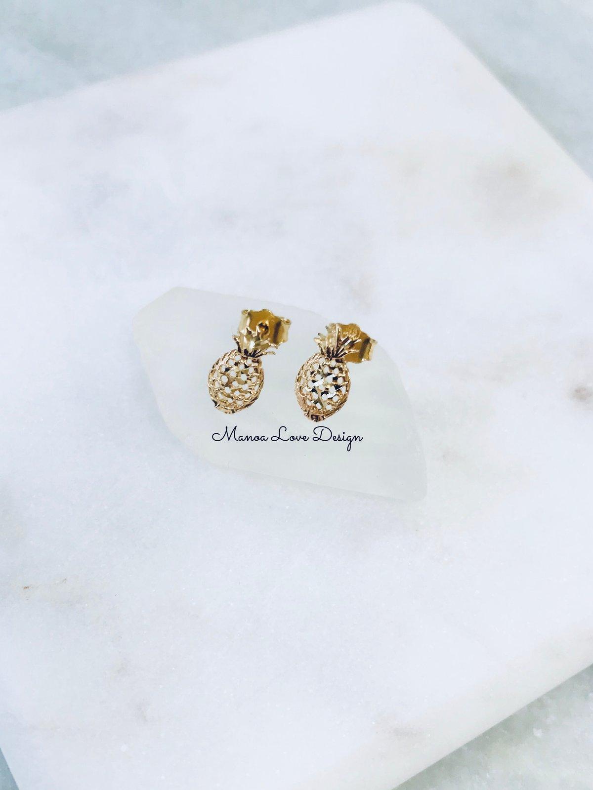 Image of Palm tree earrings, pineapple earrings