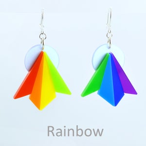 Image of Starburst Earrings 1970's and Rainbow
