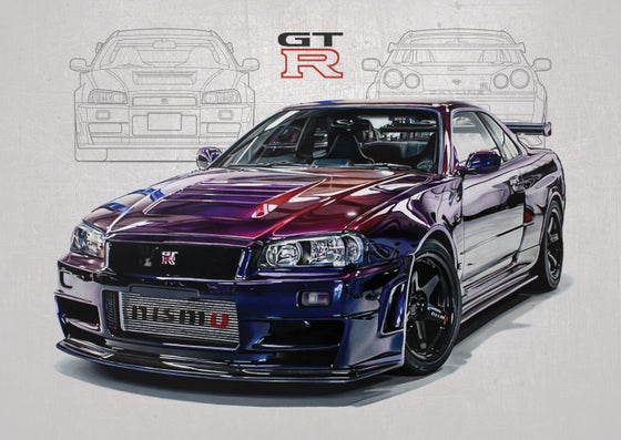 Image of Nissan Skyline GT-R (R34) NISMO Z-Tune Poster Print