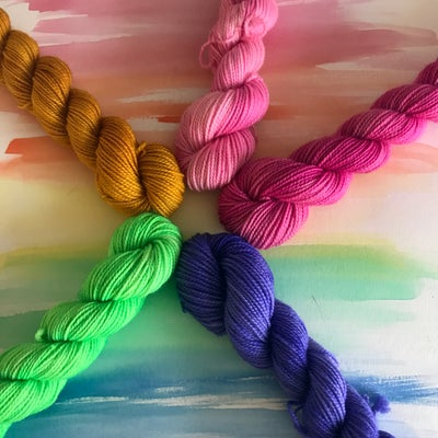 Image of 5-skein Mini Set - Beneath Wandering Thoughts