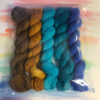 Image of 5-skein Mini Set - Clouded Winter Whispers