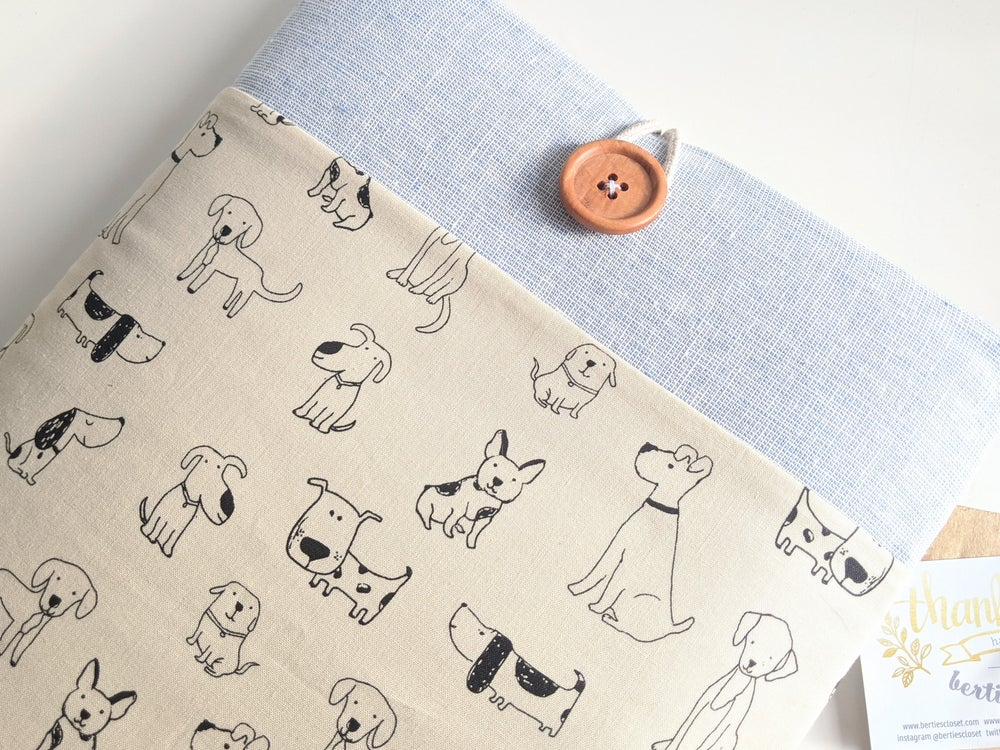 Image of Dogs Laptop Case Cover, Custom Fit iPad, Tablet, eReader Case Sleeve