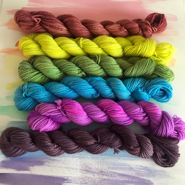 Image of 6-skein Mini Set - Rusted Morning Shore