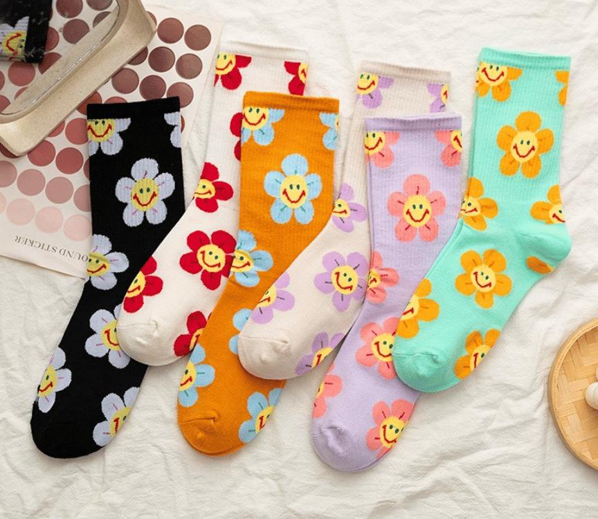 Image of Flower Face Socks