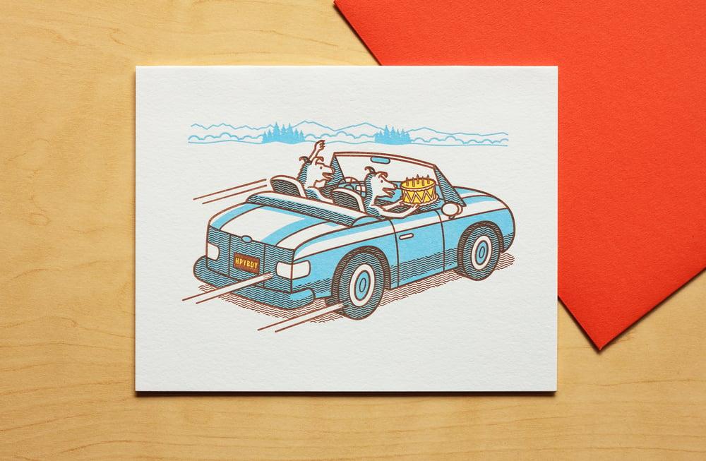 Image of Cake Thieves Make a Getaway Card