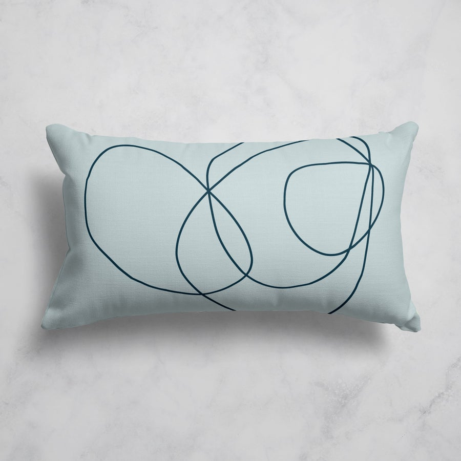 Image of Rock Garden No. 2 Rectangular Throw Pillow in Light Blue