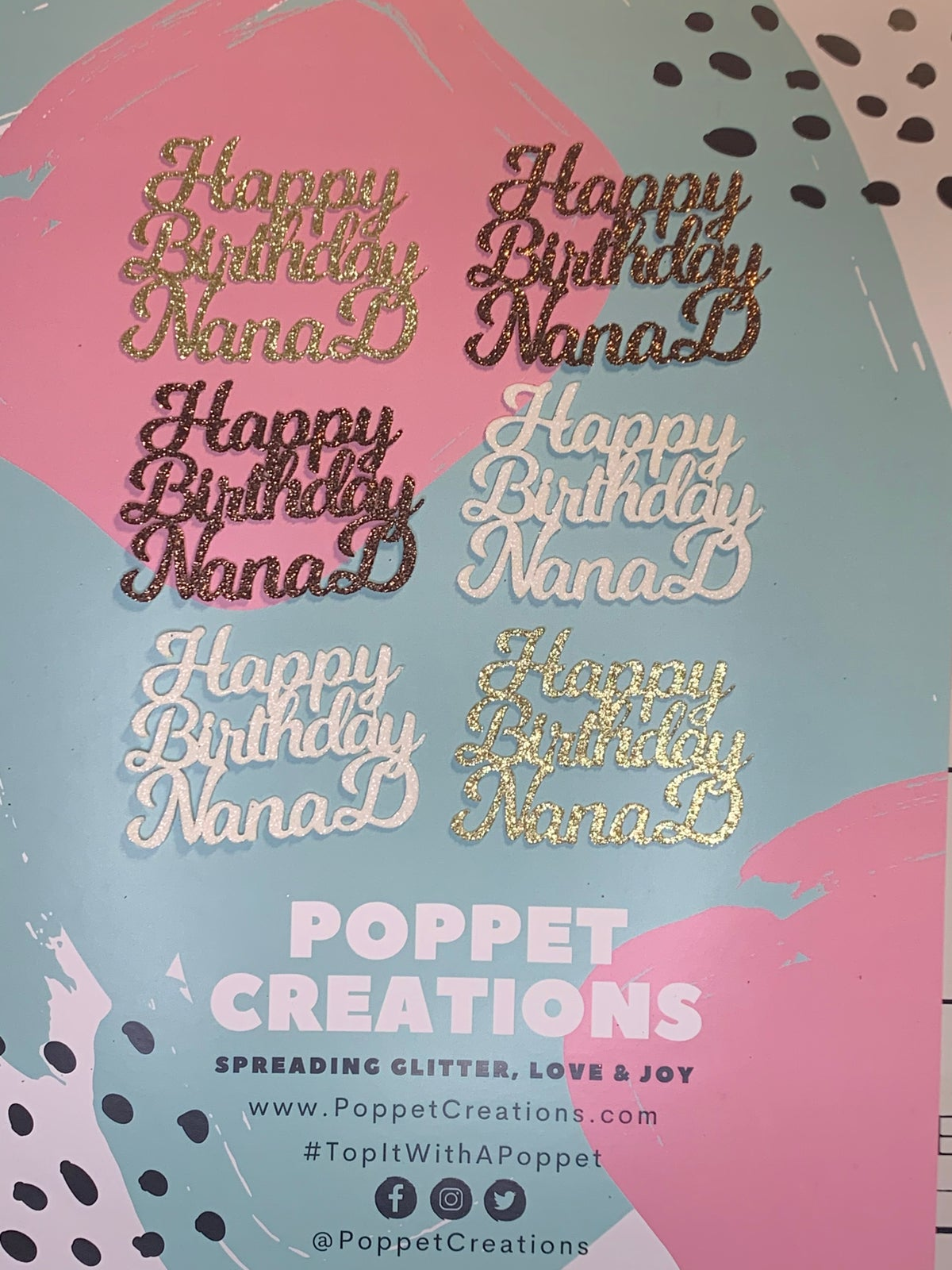 Image of Cupcake toppers personalised (set of 6)