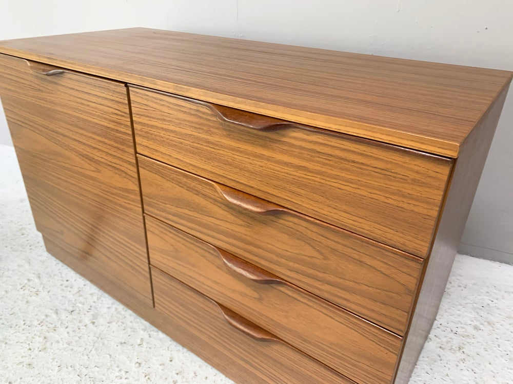 Image of 1970's mid century formica sideboard / chest of drawers