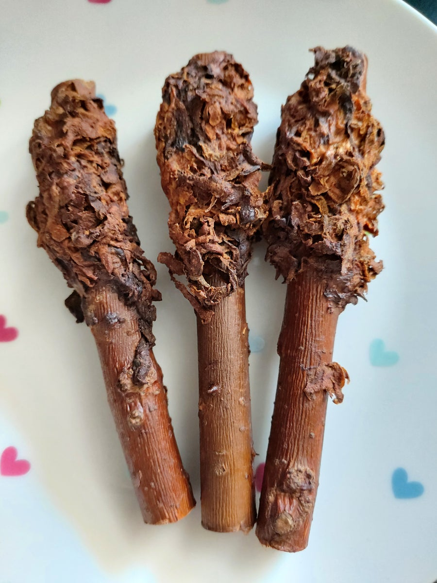 Image of Banana and carrot baked willow branch pieces