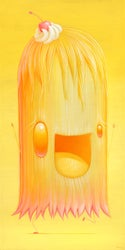"""Curdy"" Original Acrylic Painting"
