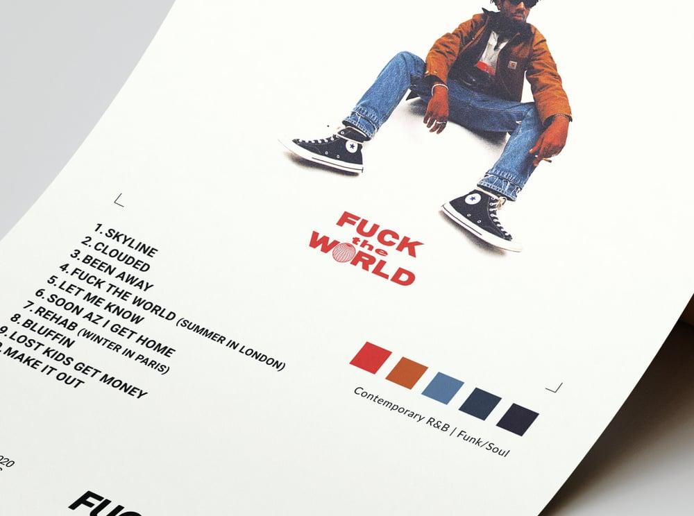 Brent Faiyaz - Fuck the World Album Cover Poster