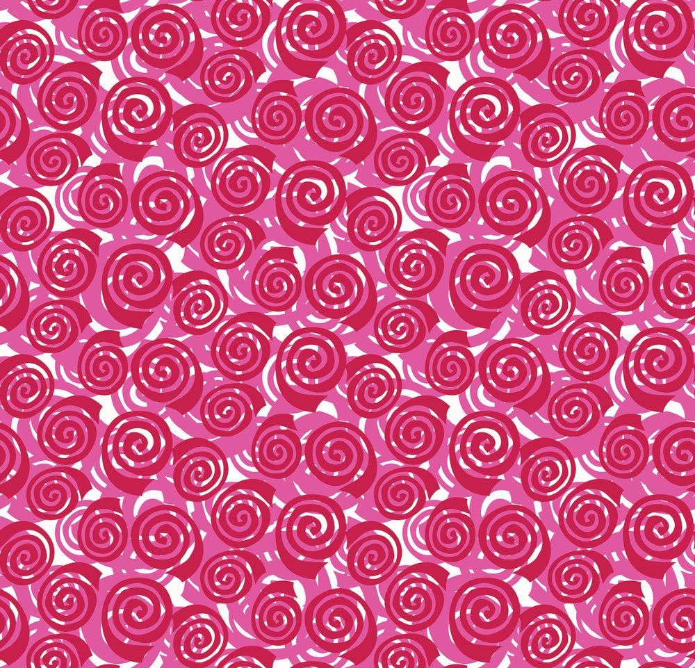 Abstract Garden Blooming Roses by the Yard  Fuchsia