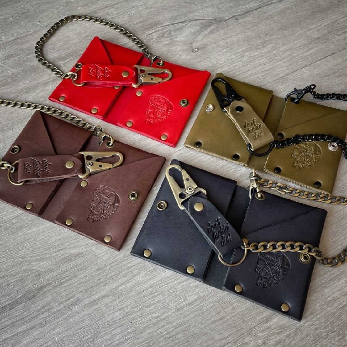 Image of Leather DFD Chain Wallet