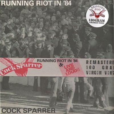 "COCK SPARRER - ""Runnin' Riot In 84"" & ""Live n' Loud"" 2-LP SET (LTD 180 SPLATTER VINYL)"