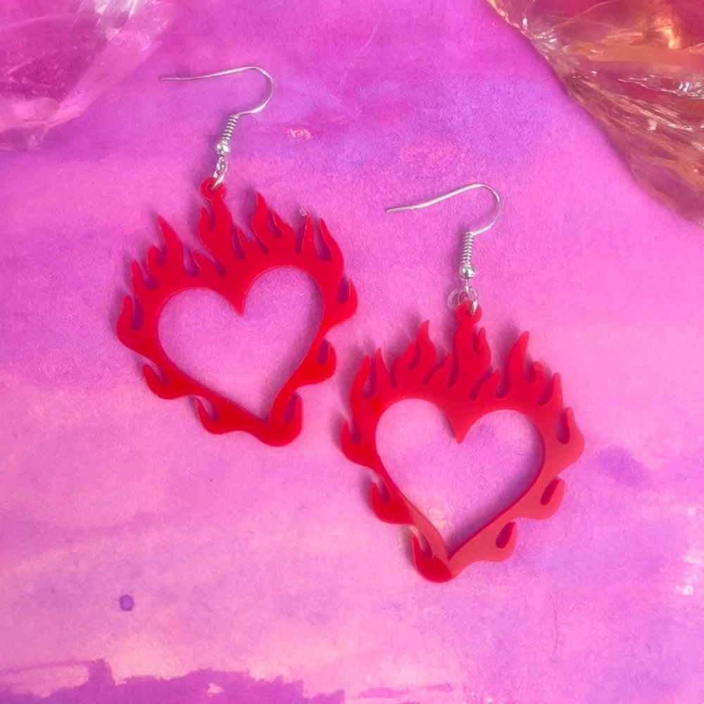 Image of HEARTS ON FIRE EARRINGS