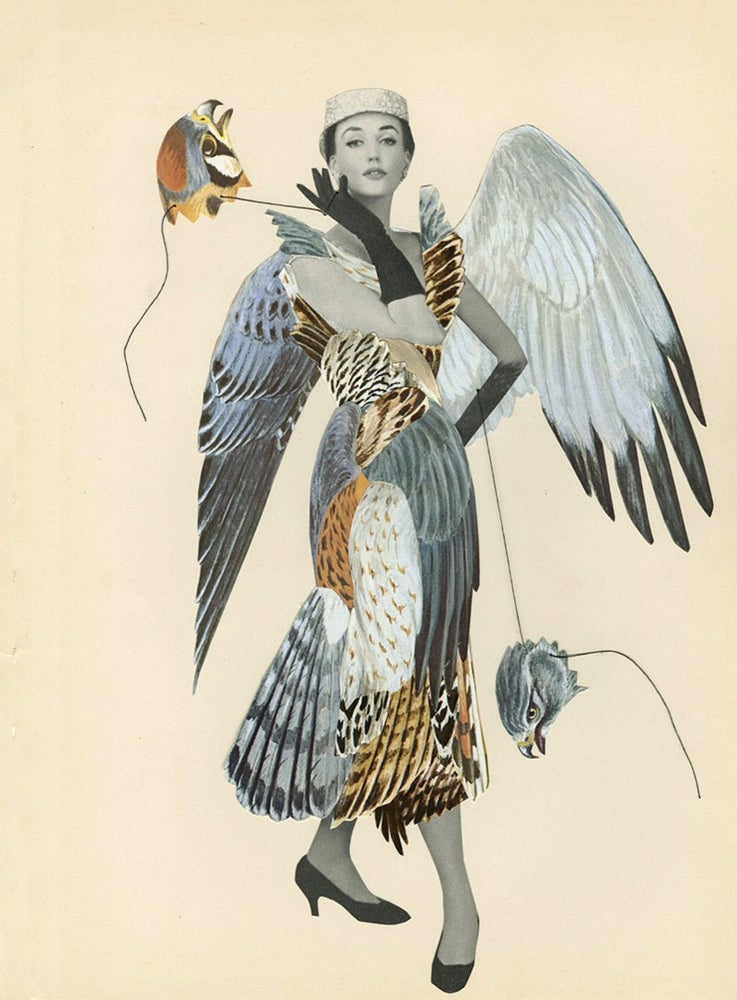 Image of Ladyhawke. Limited edition collage print.