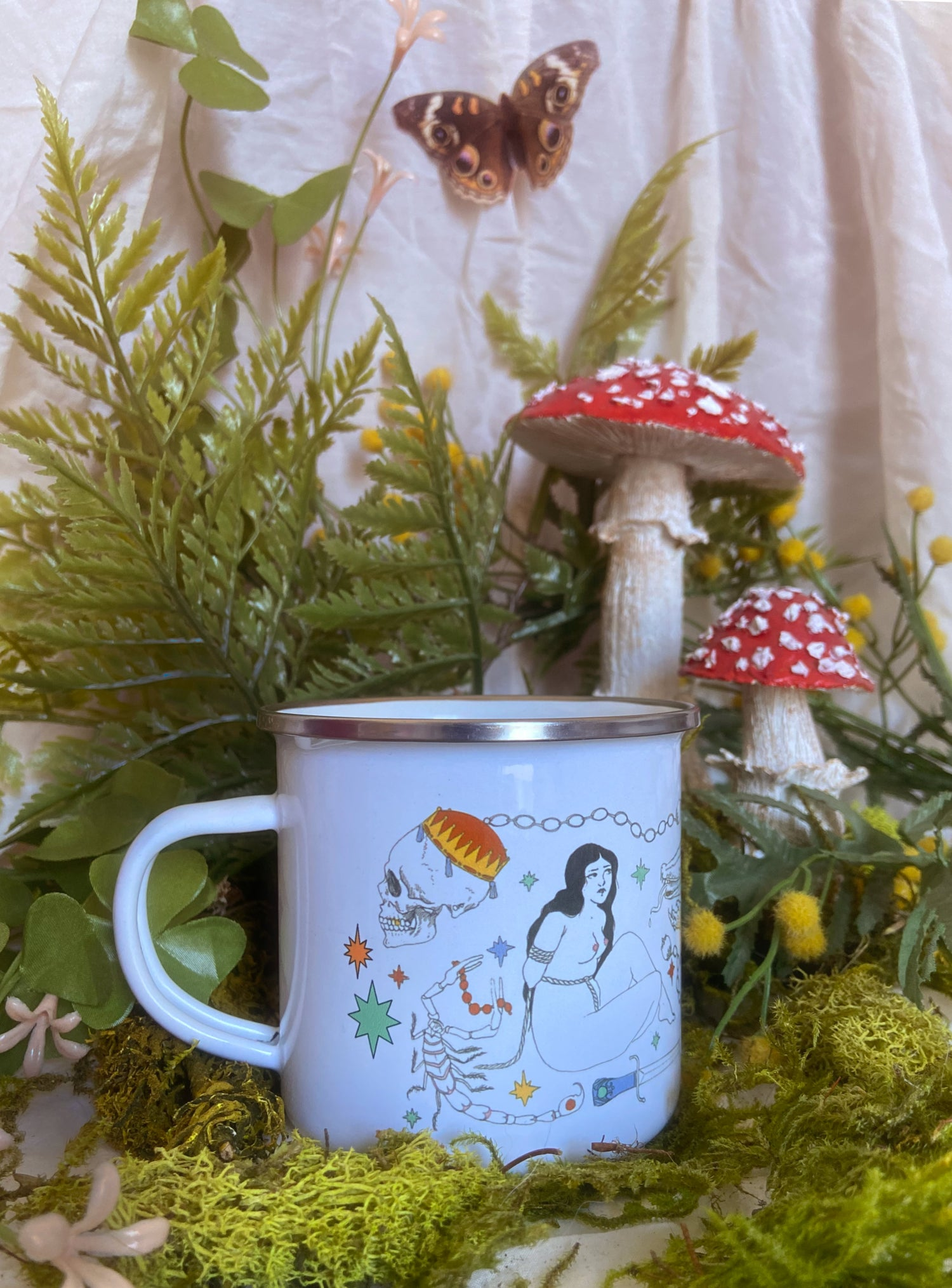 Image of Frisky Flash Enamel Camping Mug