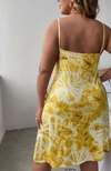 Sunkissed Tie Dye Cami Dress yellow, red, purple, blue