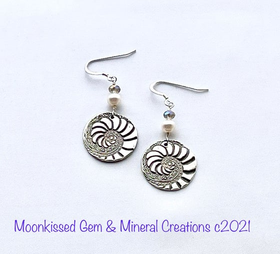 Image of Riding the Wave Fine Silver Earrings