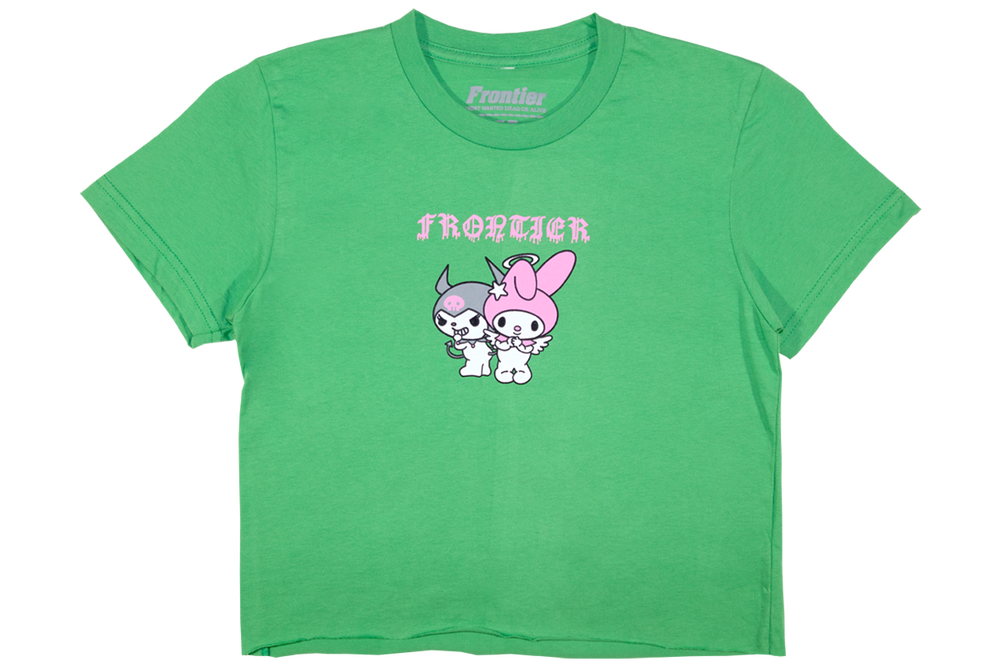Image of Melody Fine Jersey Crop Top Green
