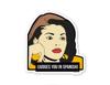 """Judges You in Spanish"" Sticker"