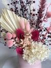 everlasting floral in pink vase