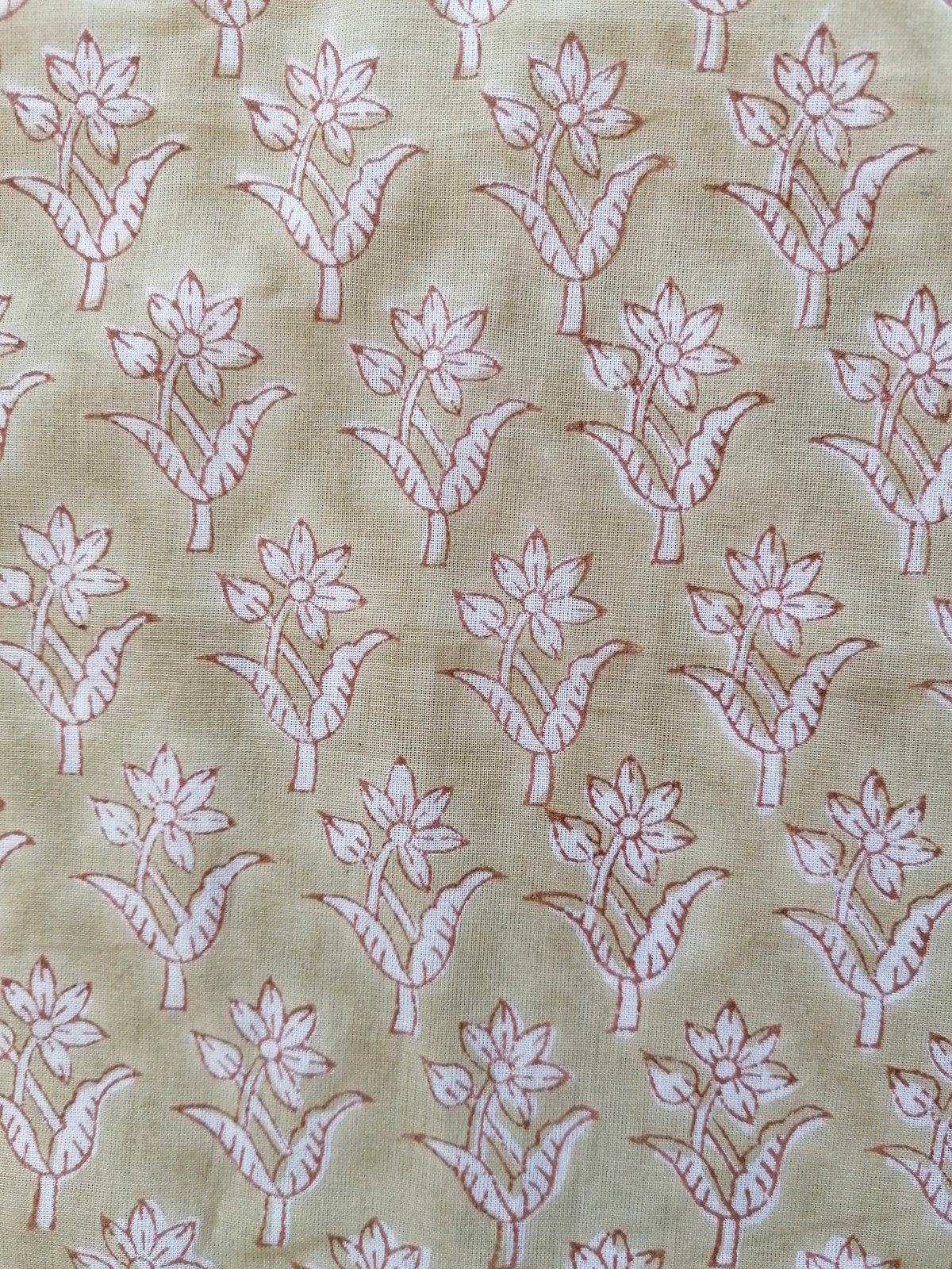 Image of Namasté fabric petites fleurs anis