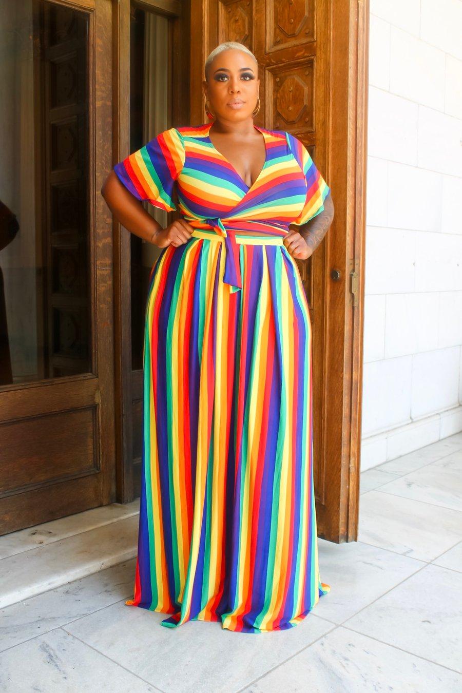 Image of Rainbow Skirt Set