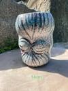 Organic tribal Raku vase