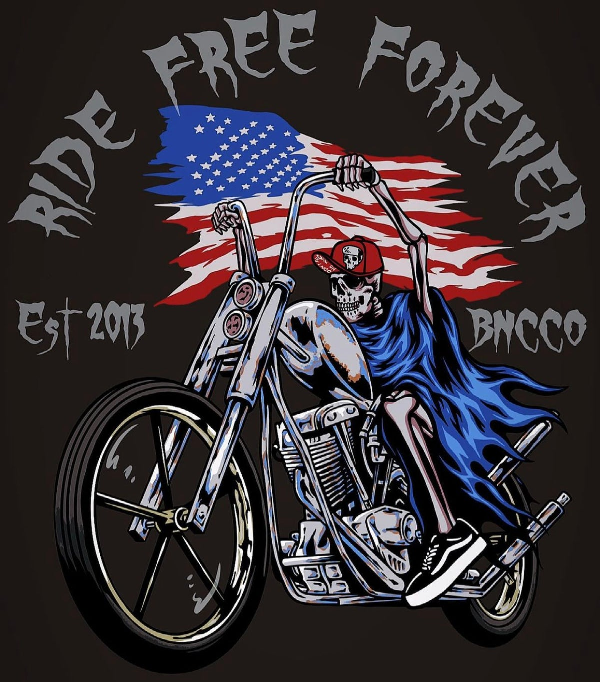 Image of Ride Free Forever 🇺🇸 Tee