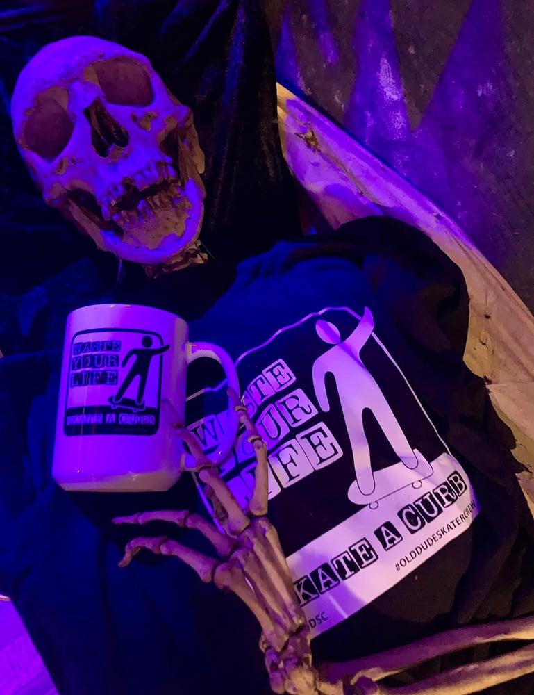 Image of Waste Your Life Skate a Curb Mug