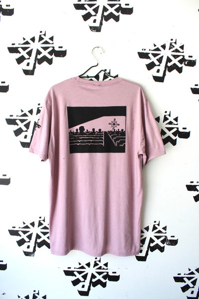Image of came to see something tee in light purple