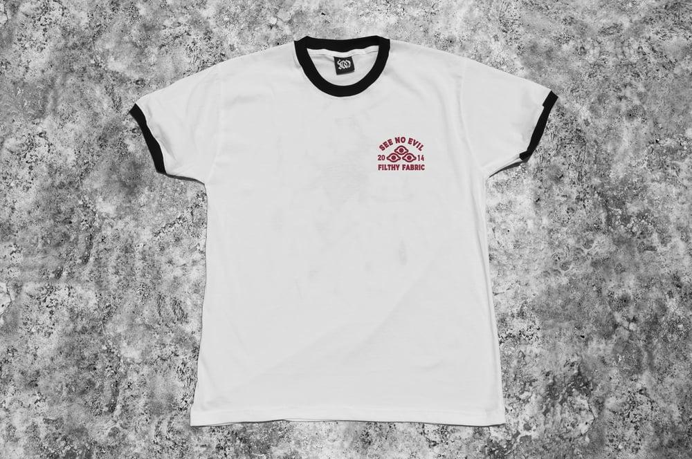 """Image of """"Arachne"""" White Ringer T-Shirt"""