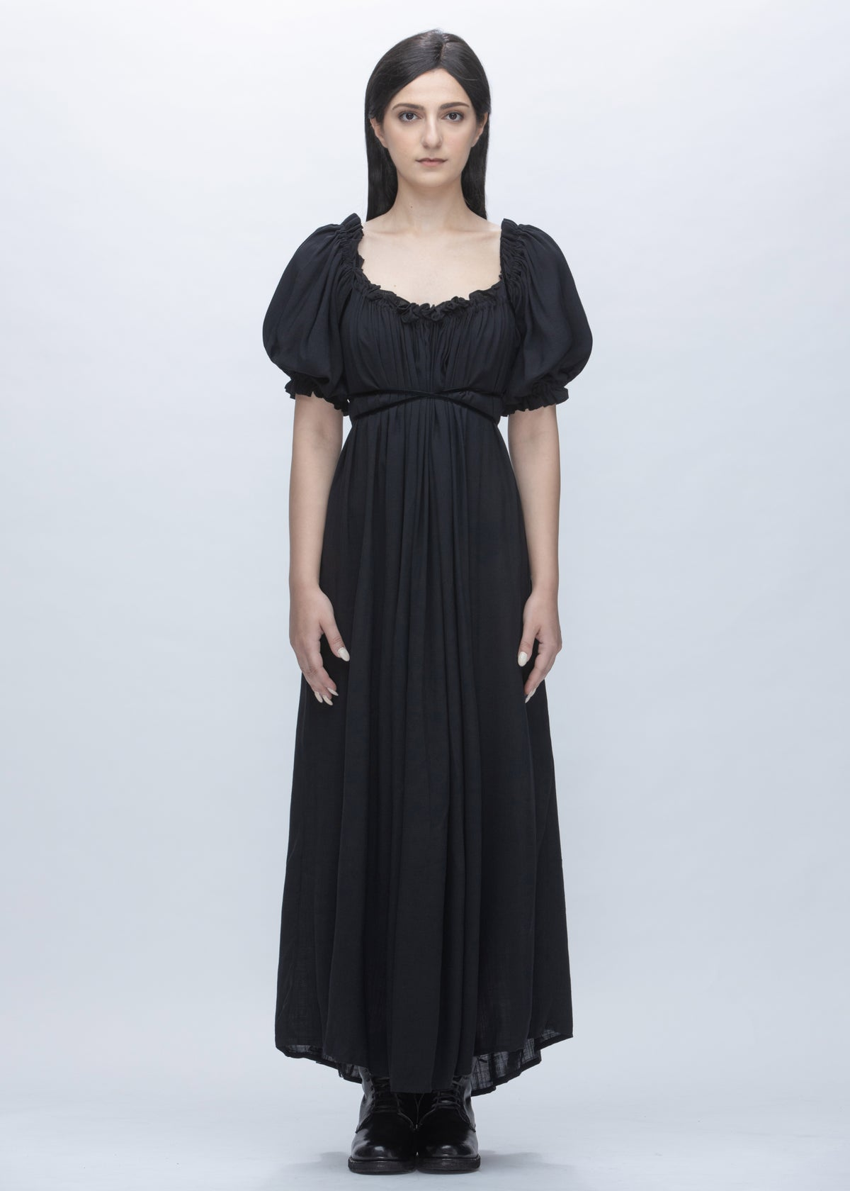 Image of Suri Lace Up Multi Way Dress in Black