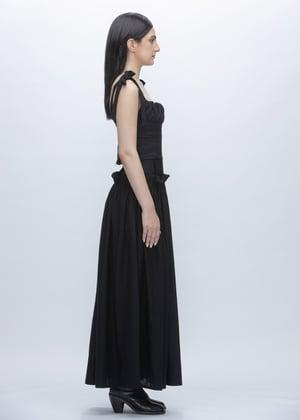Image of Black Rose Top With Ties