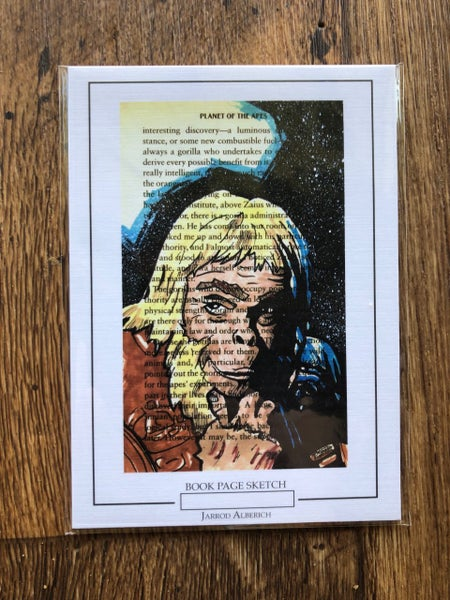 Image of Dr. Zaius - Planet of the Apes - Book Page Sketch - 5x7 Print