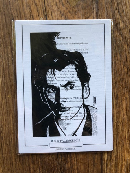 Image of 10th Doctor (David Tennant) - Dr. Who - Book Page Sketch - 5x7 Print
